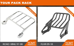 TCMT tour pack rack,backrest
