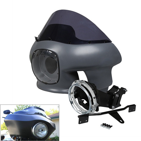 Tcmt Fairing Headlight Mount W   Windshield For Harley Dyna Super Glide Motorcycle Parts China