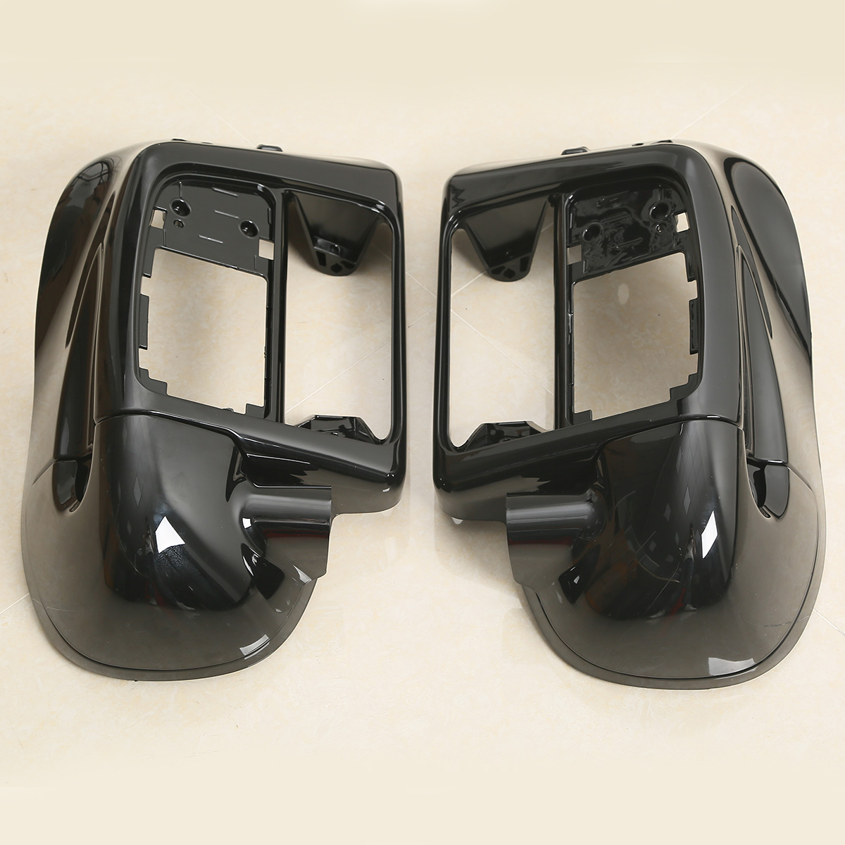 Black Painted ABS Lower Leg Vented Fairing For Harley