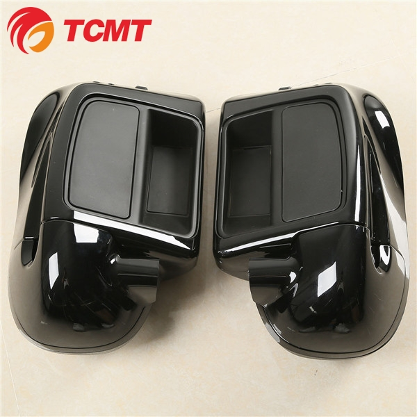 TCMT Black Glove Box Lower Vented Leg Fairings For Harley Touring Electra Glide Road King 2014 2015 2016 2017