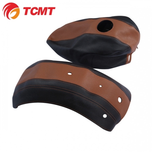 Leather Gas Tank Cover Fender Protector Fits For Sportster 883