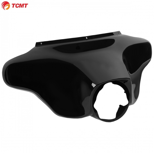 Vivid Black Front Batwing Upper Outer Fairing For Harley Touring Road King 96-13