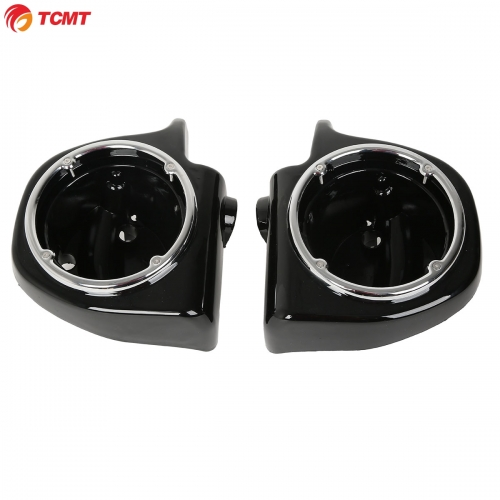 "Vented Lower Fairing 6.5"" Speaker Boxes Pods for Harley Touring FLHT FLHX FLTR"