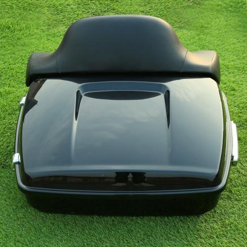 "Matte Black 10.7/"" Trunk Backrest For Harley Touring Street Glide 14-20 Tour Pak"