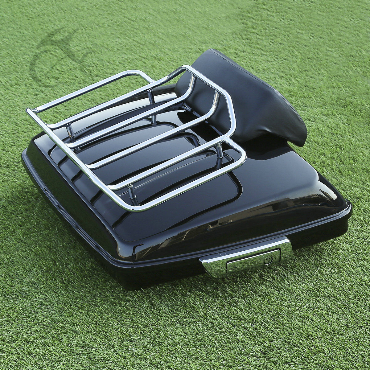 King Pack Trunk W// Top Rack Backrest For Harley Tour Pak Touring Road King 14-20