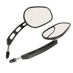 XF110858-MB Pair Rear View Mirrors For Harley Davidson XL1200L XL883 XL883L Sportster Iron