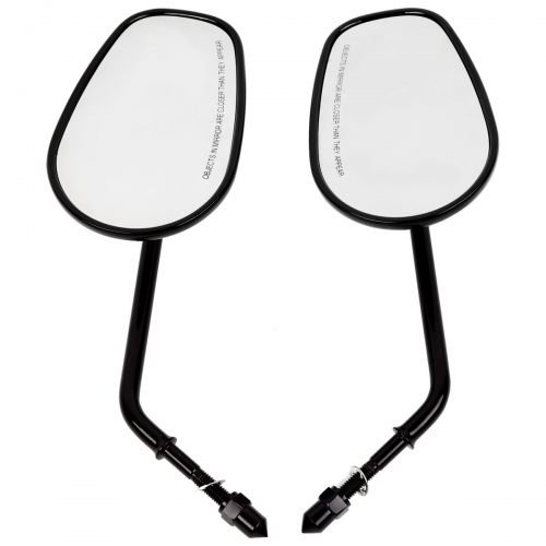 XF-460-B 8mm Rearview Side Mirrors For Harley Davidson XL1200L XL883 XL883L Sportster