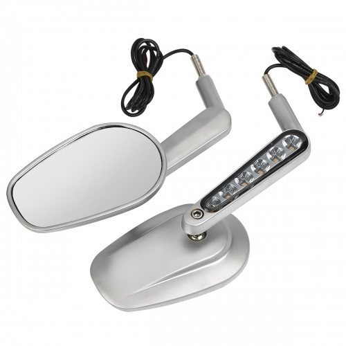 XF110859-S Pair Muscle Rear View Mirrors & LED Front Turn Signals For Harley V ROD 09-17