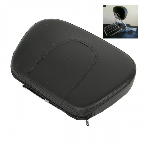 XF2906239 Black Detachable Passenger Backrest Pad & Bracket For Harley Electra Glide 09-18