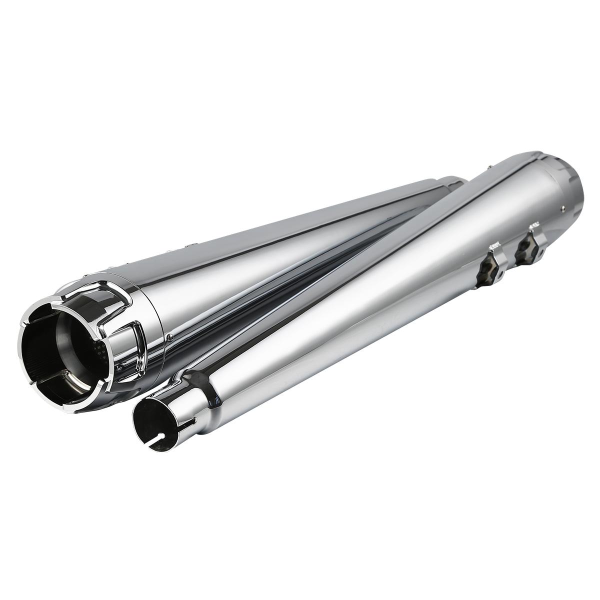 """Chrome 4/"""" Slip-on Exhaust Muffler Pipe Silencer For Harley Street Glide 1995-16"""