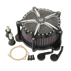 XF2906155 Black Air Cleaner Intake Filter For 2008-2009 Harley Cross Bones Rocker Softail