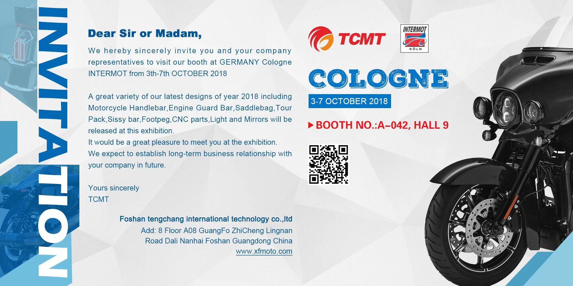 TCMT INTERMOT MOTORCYCLE PARTS EXHIBITION IN COLOGNE 2018