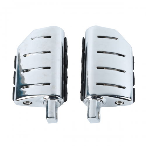 Chrome Male Mount Footpegs For Harley Softail Sportster Glide Fat Boy Road King