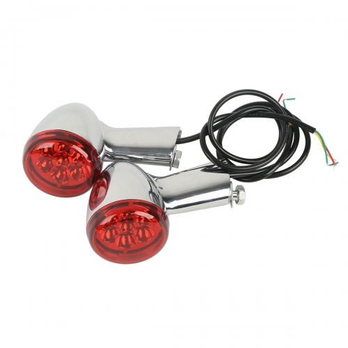 Chrome Turn Signals Lights & Long Bracket For Harley XL883 1200 Sportster 92-16