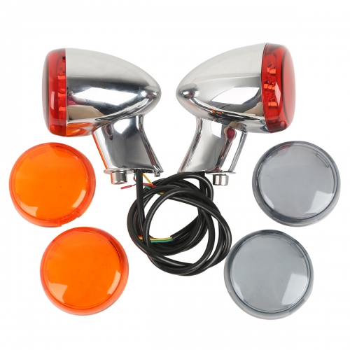 Chrome Turn Signal LED Indicator Light For Harley XL 883 XL 1200 Sportster 92-16