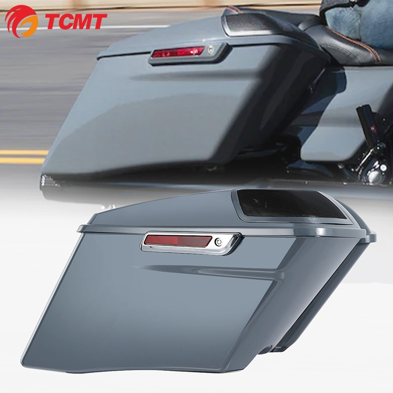 "TCMT XF111564-H 4"" Gray CVO Stretched Saddlebags For Harley Electra Street Glide FLTR 14-20"