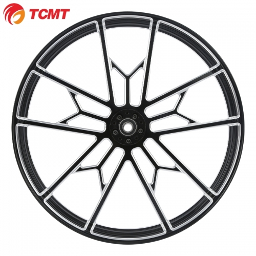 TCMT XF2906C270-A-26+C218 Black 26'' X 3.5'' Front Wheel Rim Hub For Harley Touring Dual Disc 2008-2020