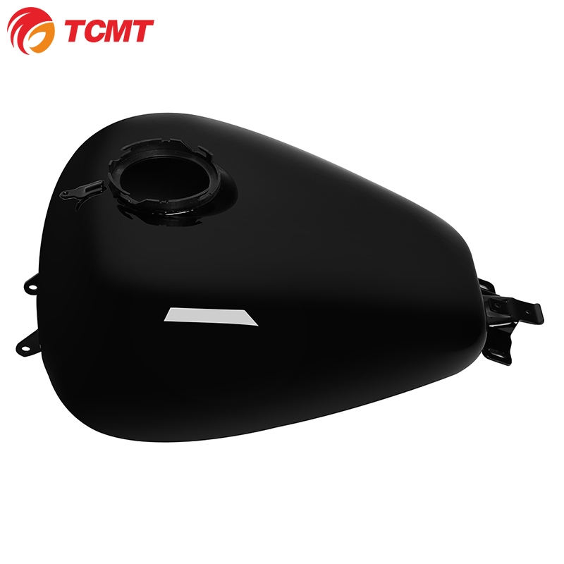 TCMT Painted Black 6 Gallon Motorcycle Fuel Gas Tank For Harley Touring 2008-2020