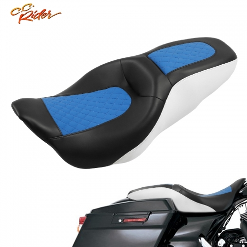 CC Rider XF2906S03-01 Two Up Driver Passenger Seat Fit For Harley Touring Street Glide 2009-2020 4 color