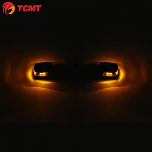 TCMT Handlebar Grip Bar End LED Light Indicator Fit For Harley Chopper Roller