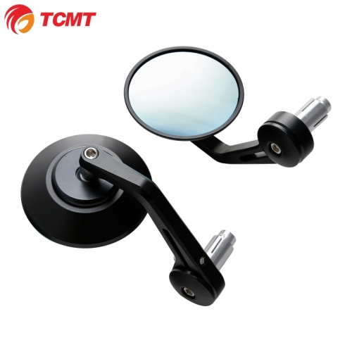 "TCMT 7/8"" 22mm Handle Bar End Rearview Mirrors Fit For Kawasaki Honda Suzuki bikes"