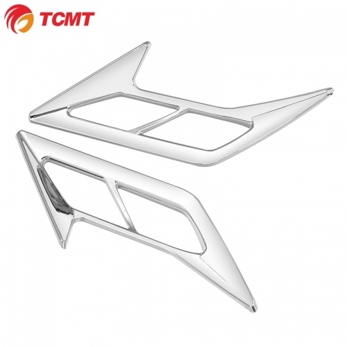 TCMT XF29012038-E Chrome ABS Front Fender Trims Side Accent Fit For Honda Goldwing GL1800 2018-20